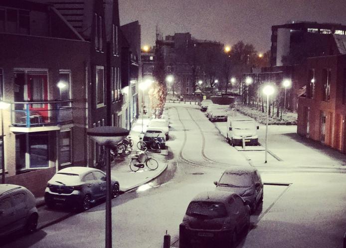 Zo zag Zwolle er vanmorgen uit.