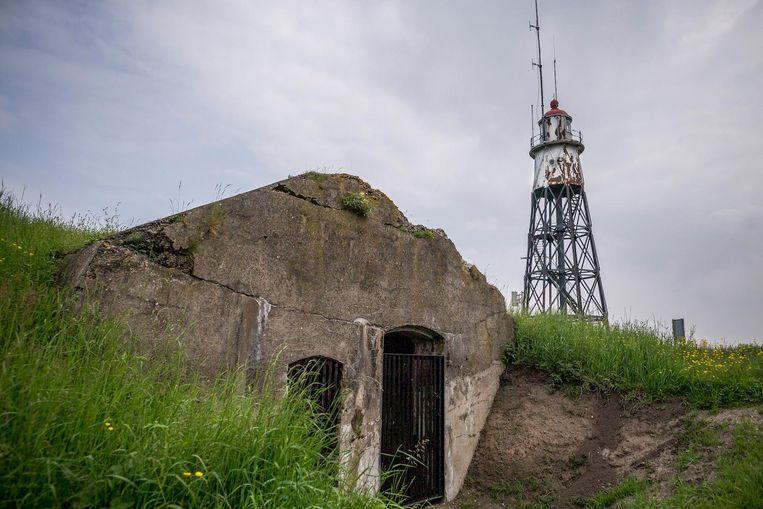 Een onlangs gerenoveerde bunker op Vuurtoreneiland Beeld Rink Hof