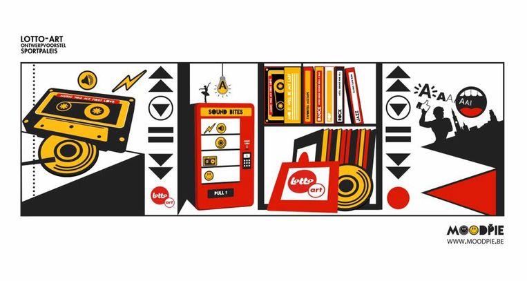 Het ontwerp van Jeroen Buytaert voor Lotto-Art kreeg een duidelijke link naar muziek.