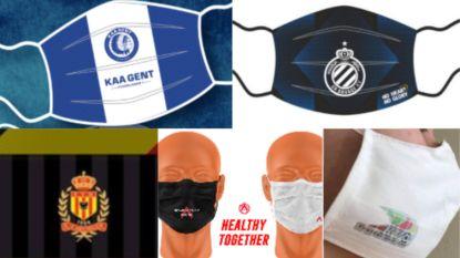 Om ter coolst: vergeet de clubsjaal, elk z'n clubmasker