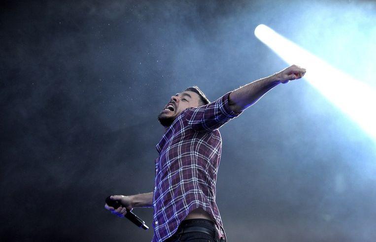 Mike Shinoda, een van de twee vocalisten van Linkin Park. Beeld anp