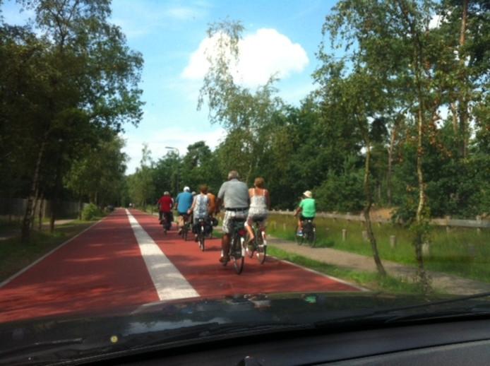 De Vliertwijksestraat is inmiddels een (versmalde) fietsstraat geworden. Ook het oude fietspad wordt nog regelmatig gebruikt.