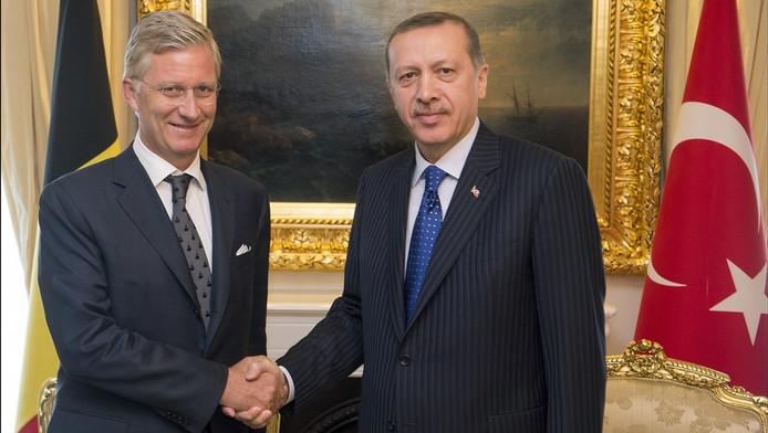 Le prince Philippe et le président turc Recep Tayyip Erdogan