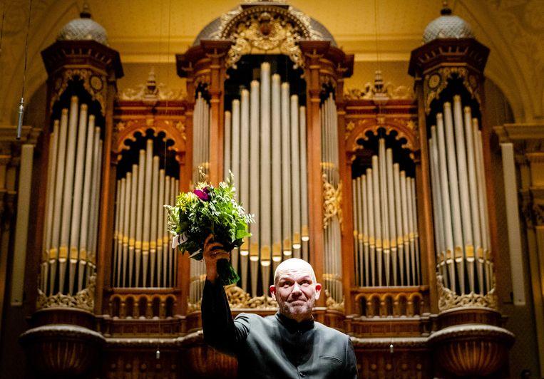 Dirigent Jaap van Zweden, woensdag in Het Concertgebouw. Beeld ANP