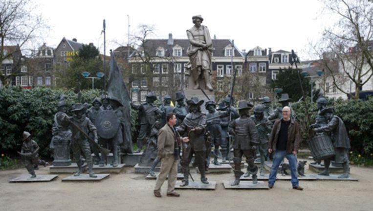 Het Rembrantplein voor de verbouwing. Het plein is nu nauwelijks te herkennen. Archieffoto ANP Beeld