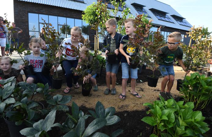 Basisschool de Klingenburg wordt in het groen gezet.