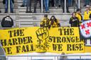Supporters van NAC houden na de degradatie de moed erin. Door de nieuwe regels heeft de club volgend seizoen een grotere kans om rechtstreeks te promoveren.