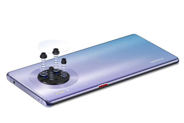 4-dubbele camera onder glas - Huawei Mate 30