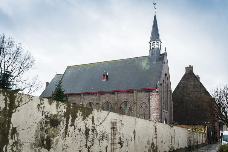 De kerk van de wijk Muide.