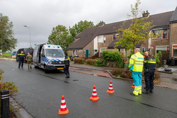 Explosieven Opruimingsdienst (EOD) in Nieuwkoop.