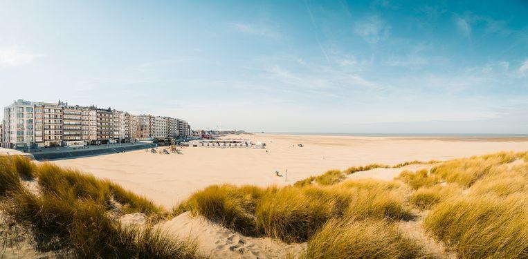 Het strand van Zeebrugge.