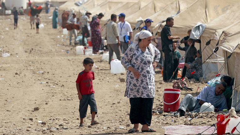 Een Syrisch vluchtelingenkamp in Irbil, Irak Beeld ap