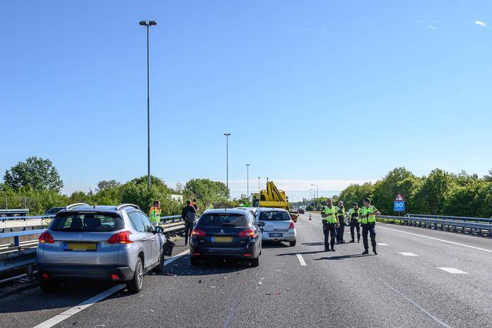 Ongeval op A58 bij Bavel