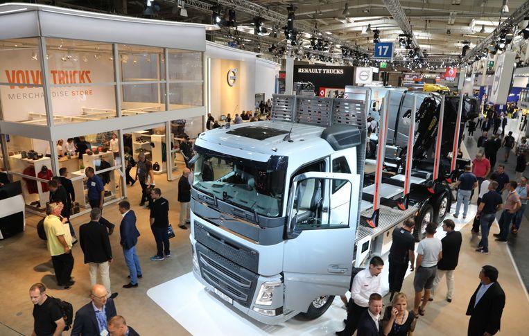 Een sfeerbeeld uit de Volvo Trucks-fabriek