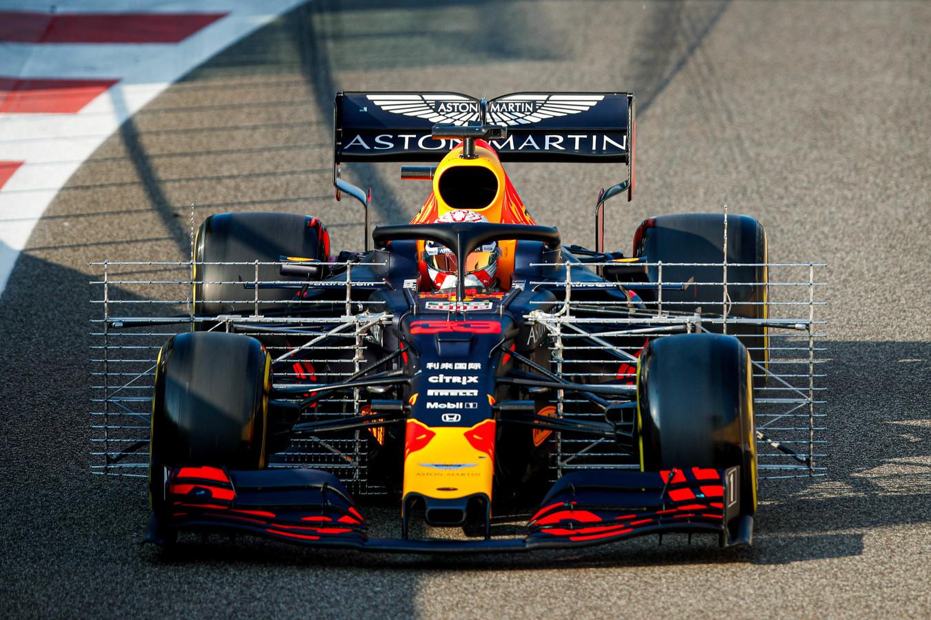 De F1-bolide van Max Verstappen.