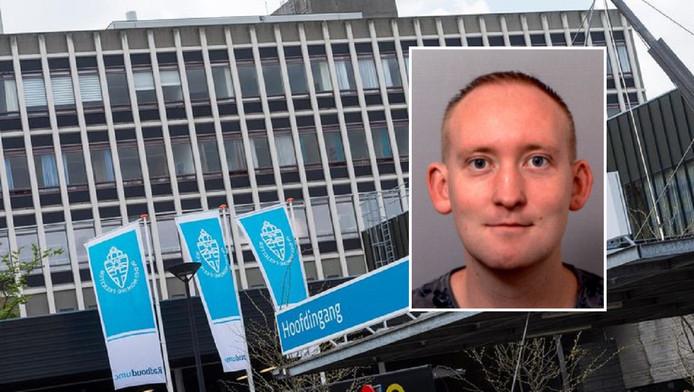 Niels Brunink is vermist. Hij werd voor het laatst gezien in het ziekenhuis van Nijmegen