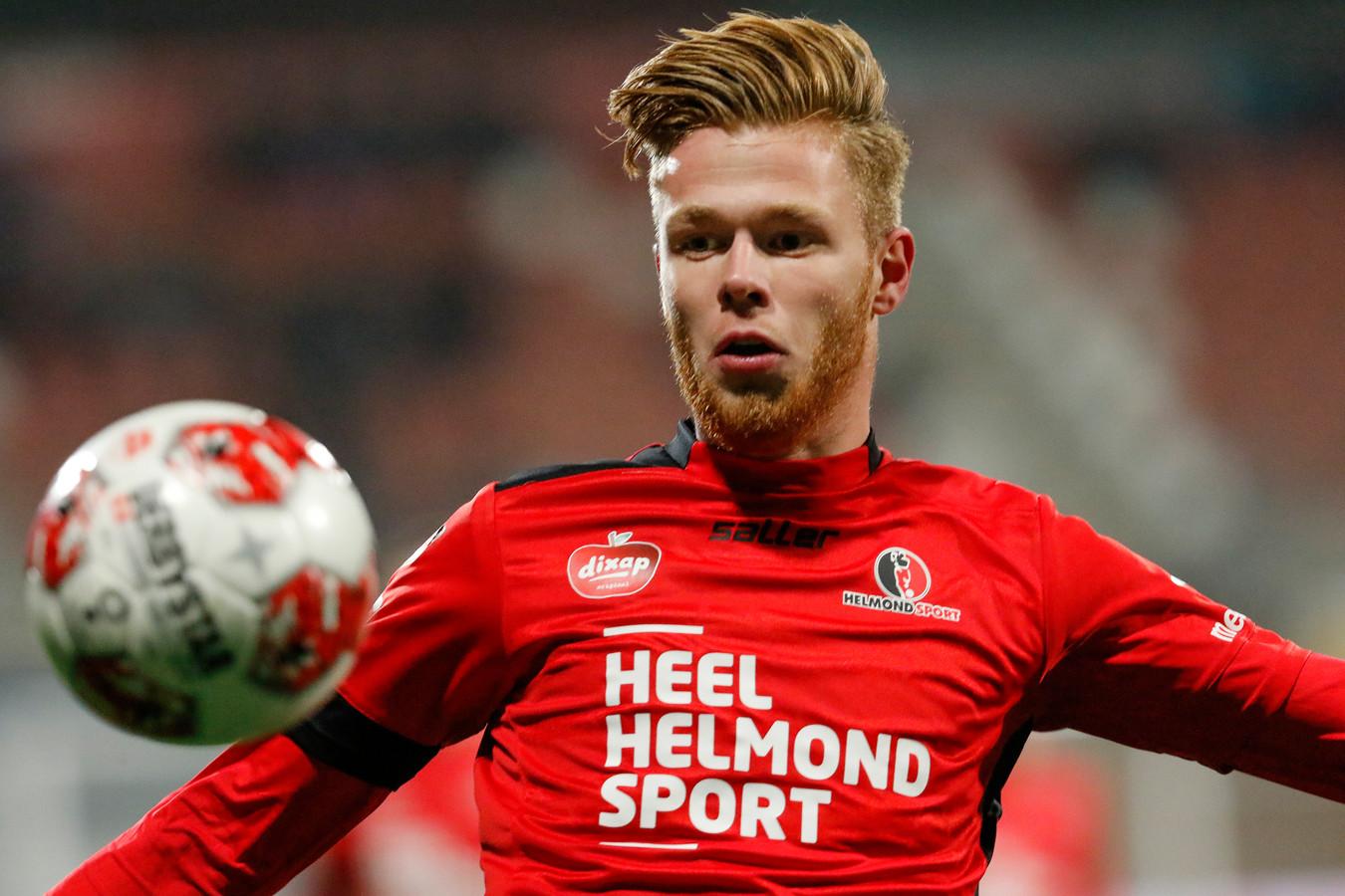 Givan Werkhoven, hier nog in dienst van Helmond Sport, is de nieuwe spits van Excelsior'31.
