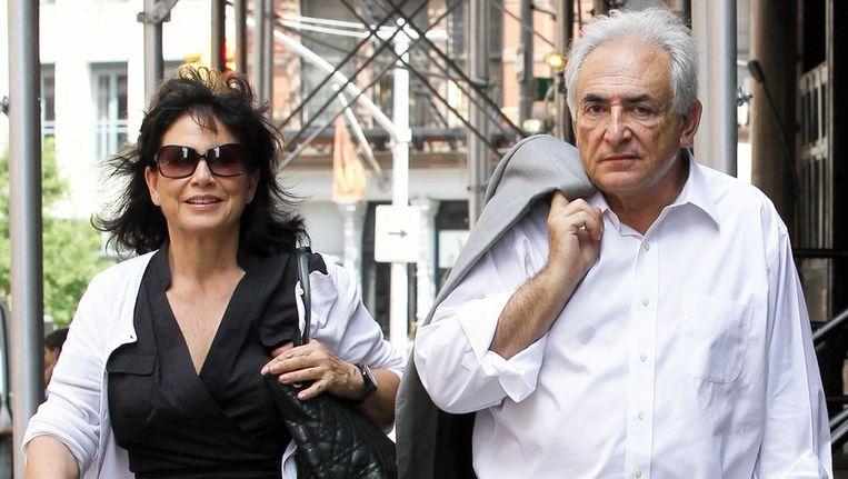 Dominique Strauss-Kahn en zijn vrouw Anne Sinclair. Beeld bruno