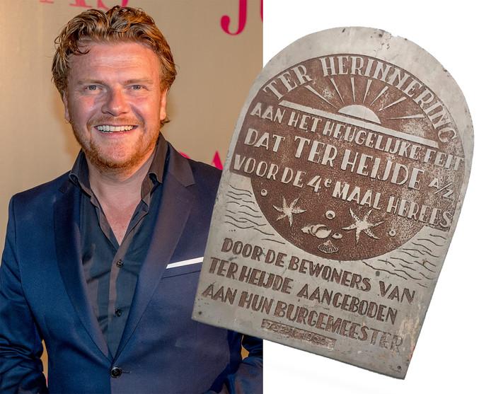 Bastiaan Ragas met het plaquette uit 1960.