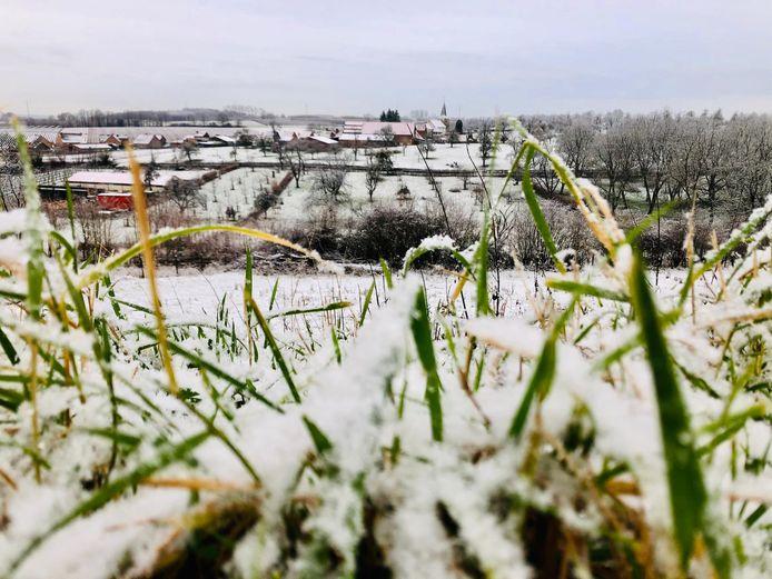 In Borgloon is alvast sneeuw gevallen.