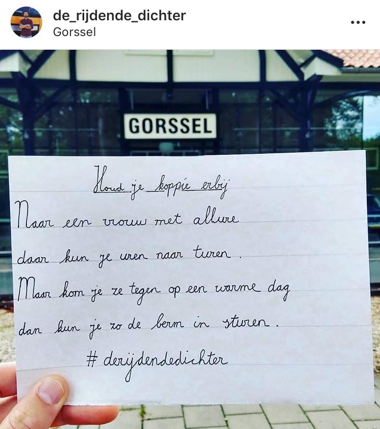 Het gedichtje dat Jarno plaatst vanuit Onstwedde terwijl hij verplicht rust moet houden. Binnen mum van tijd krijgt hij reacties op het luchtige gedichtje.