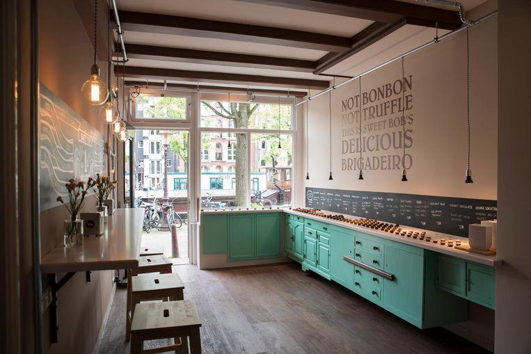 In zijn eigen laboratorium creëert chef Poletto alle smaken Beeld Charlotte Odijk